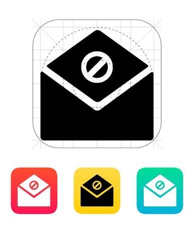 spam mail: Spam mail icon illustration.