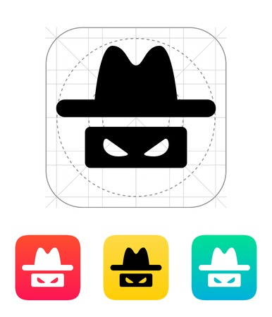 Spy icon. Vector illustration. Stock Vector - 25030142
