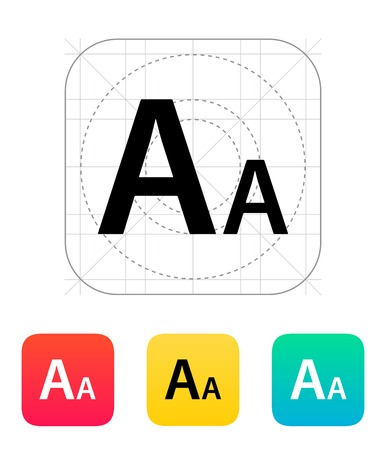 Font size icon. Vector illustration.