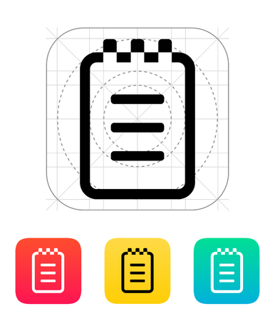 Notepad icon. Vector illustration. Vector