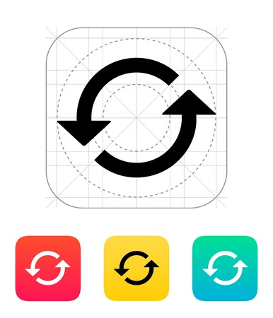 Recharger icône. Vector illustration. Banque d'images - 25211325