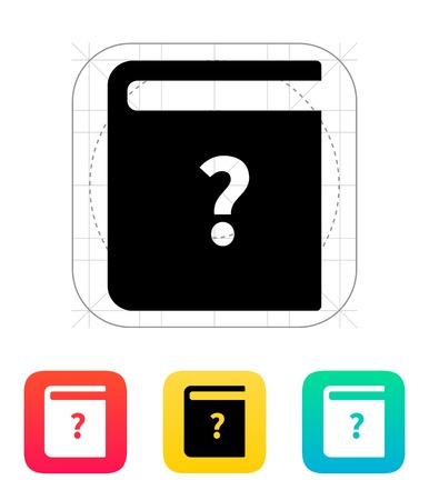instruction: Instruction book icon. Vector illustration.