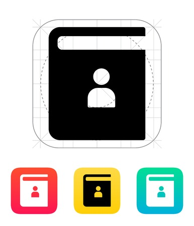 contact book: P�ngase en contacto con icono de libro. Ilustraci�n del vector.
