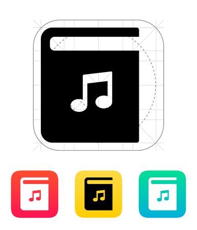 audio book: Audio book icon. Vector illustration.