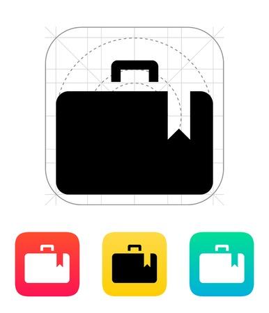 Case bookmark icon. Vector illustration. Stock Vector - 25211346