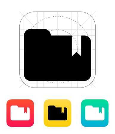 Folder bookmark icon. Vector illustration. Stock Vector - 25211347