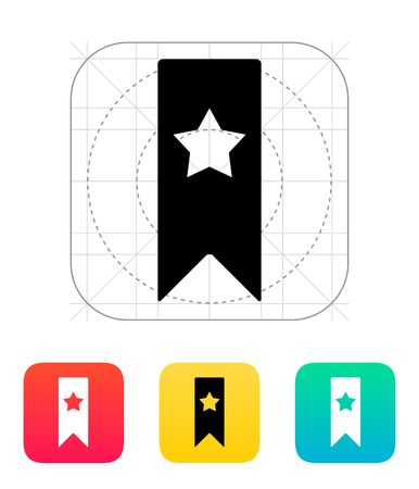 Bookmark with star icon. Vector illustration. Stock Vector - 25211348