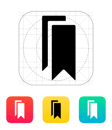Bookmarks icon. Vector illustration. Stock Vector - 25211349