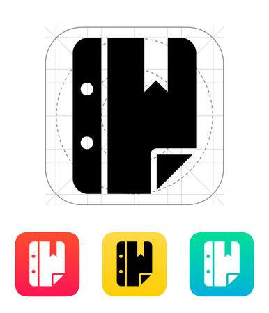 Note bookmark icon. Vector illustration. Stock Vector - 25211352