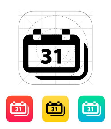 predict: Dates icon. Vector illustration. Illustration