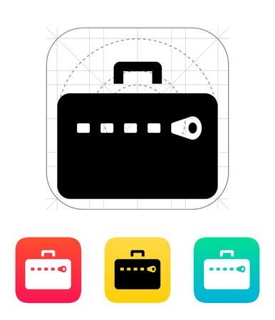 Zipper case icon. Vector illustration. Vector