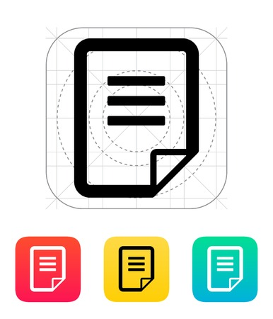Document icon. Vector illustration. Vector