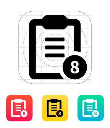 Clipboard with numbers icon. Vector illustration. Vector