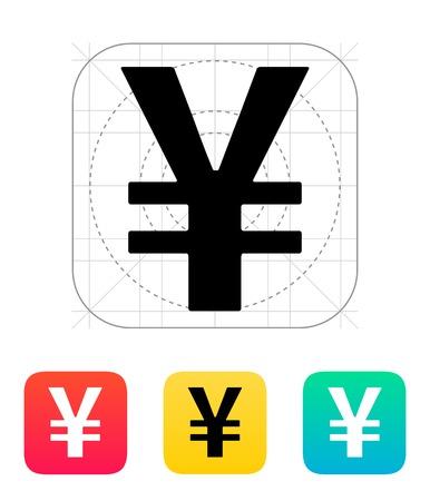yuan: Chinese yuan icon. Vector illustration.