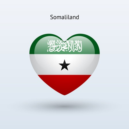 somaliland: Love Somaliland symbol. Heart flag icon. Vector illustration. Illustration