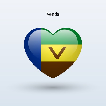 Love Venda symbol. Heart flag icon. Vector illustration. Ilustração
