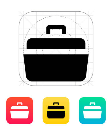 Open case icon. Vector illustration. Vector