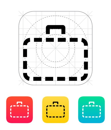 Absence case icon. Vector illustration. Vector