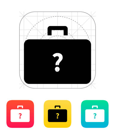 Secret case icon. Vector illustration. Vector