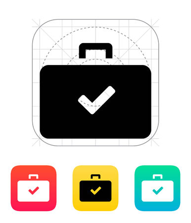 Check case icon. Vector illustration. Vector