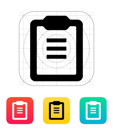 bulletin board: Clipboard with text icon. Vector illustration. Illustration