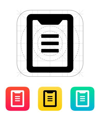 todo: Clipboard icon. Vector illustration.