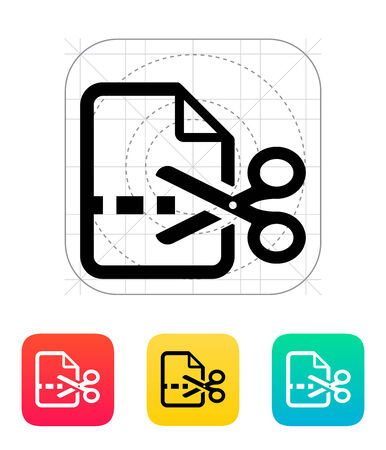 Cut file icon. Vector illustration. Vector