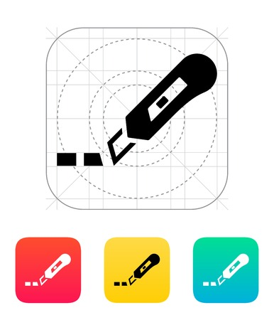 simple cross section: Cut line icon. Vector illustration.