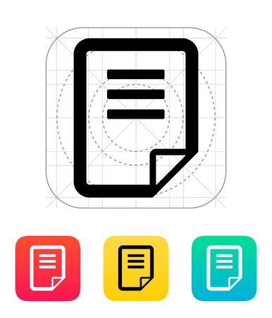 Notepad page flip icon. Vector illustration.