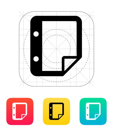 Note with holes icon. Vector illustration. Vector