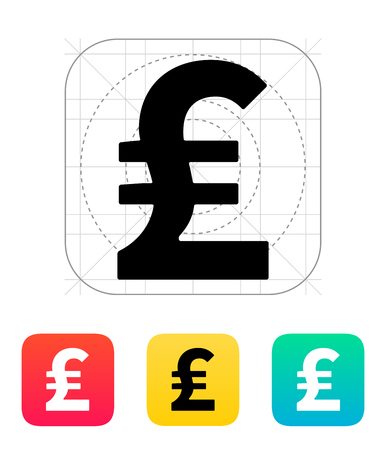 Pound sterling icon. Vector illustration. Vector