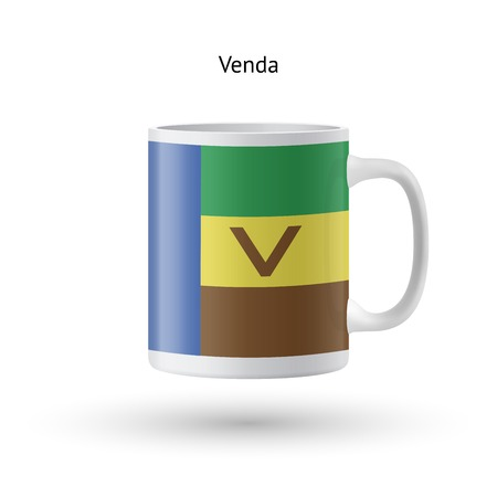 Venda flag souvenir mug isolated on white background. Vector illustration.