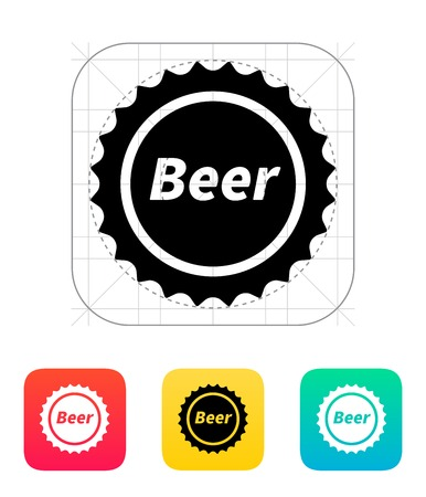Beer bottle cup icon. Vector illustration. Vector