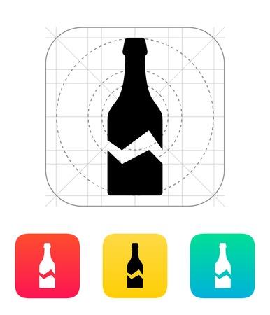 Broken bottle icon. Vector illustration. Vector