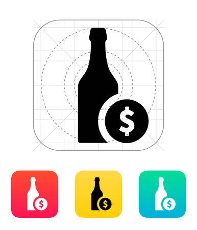Beer bottle icon. Vector illustration. Vector