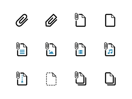 File Clip duotone icons on white background. Vector illustration. Vector