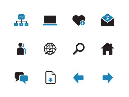Network duotone icons on white background. Vector illustration. Vector