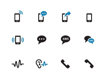 Phone duotone icons on white background. Vector illustration. Vector