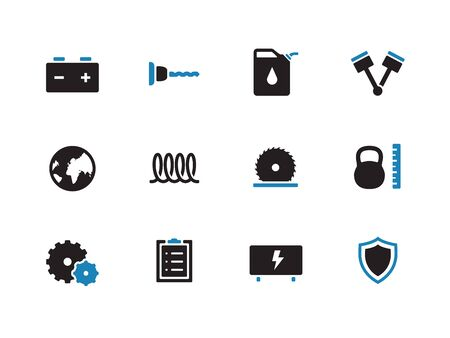 Tools duotone icons on white background. Vector illustration. Vector