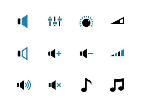 duotone: Speaker duotone icons on white background. Volume control. Vector illustration. Illustration