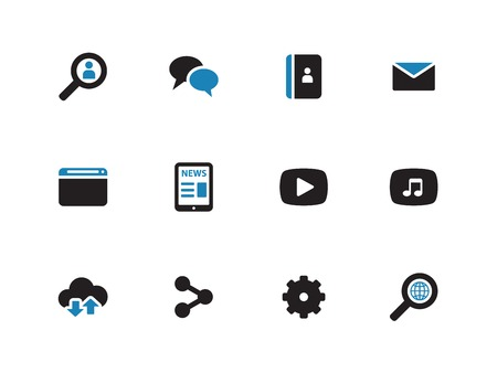 Web duotone icons on white background. Vector illustration.
