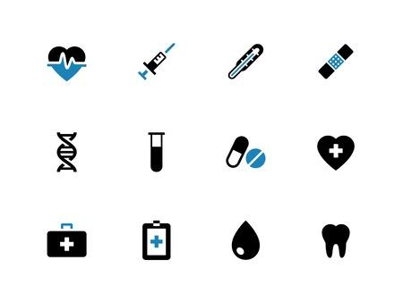 duotone: Medical duotone icons on white background. Vector illustration.