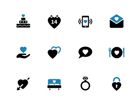 Love duotone icons on white background. Vector illustration. Vector
