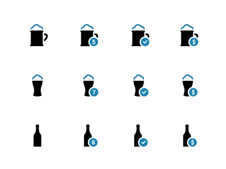 Beer duotone icons on white background. Vector illustration. Vector