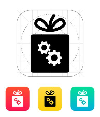 gear box: Box with gear icon.