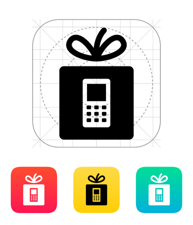 giftware: Gift phone icon.