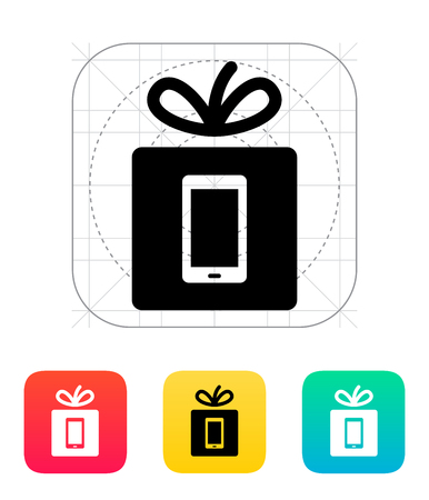 mobile phone icon: Gift mobile phone icon.