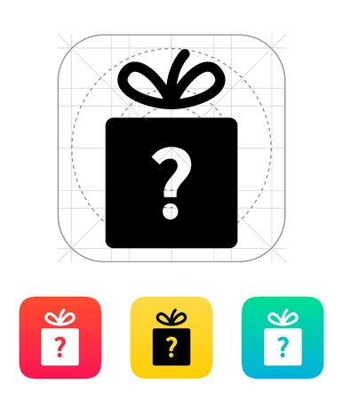 Secret gift icon. Vector