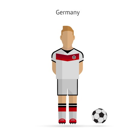 National football player. Germany soccer team uniform. Vector illustration.
