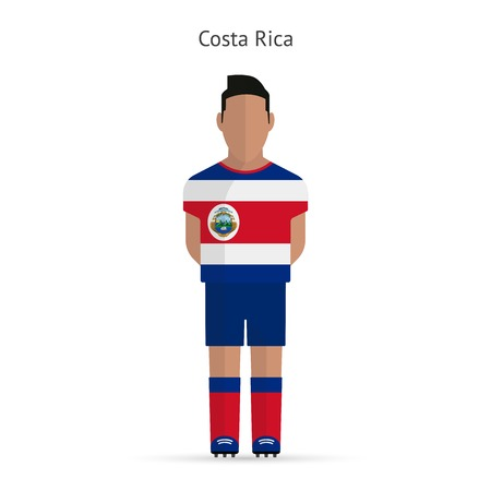 Costa Rica football player. Soccer uniform. Vector illustration. Vector